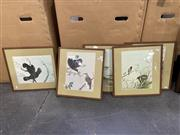 Sale 9053 - Lot 2047 - Set of (5) Neville Cayley Decorative Prints (frames: 37.5 x 39.5 cm) -
