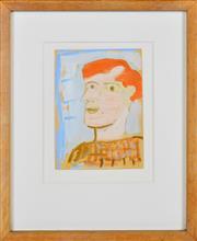 Sale 8339A - Lot 529 - Tony Tuckson (1921 - 1973) - Untitled (Portrait) 15 x 11.5cm