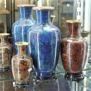 Sale 8369 - Lot 29 - Cloisonne Vases On Stands