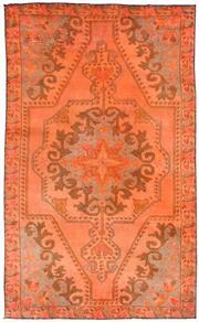 Sale 8626A - Lot 213 - A Cadrys Turkish Vintage Overdye Handspun Wool Carpet, Size; 214x124cm, RRP; $1800