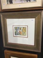Sale 8695 - Lot 2004 - Simon Blau (1952 - ) - Untitled, watercolour, 12 x 17.5cm, unsigned