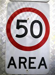 Sale 8825A - Lot 8 - 50 Area speed limit sign