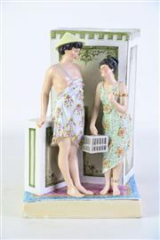 Sale 8887 - Lot 10 - Possibly Bohne and Sohne Porcelain Figural Vase H: 23cm (Chip To Base)
