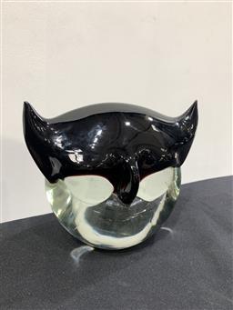 Sale 9092 - Lot 1061 - Scandinavian glass figural sculpture/paperweight after Erik Hogland for Strombergshyttan, sign to base - chip to ear (w:15cm)