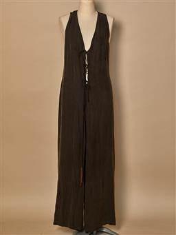 Sale 9093F - Lot 100 - An Akita isogawa long silk jumpsuit, size 10