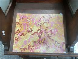 Sale 9101 - Lot 2048 - Aboriginal Work, Cassi Gibson - Bush Plum, acrylic on canvas, SLR, 50x40cm -