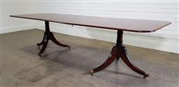 Sale 9196 - Lot 1032 - Good George III Style Mahogany Dining Table by John K Bone UK (vendor supplied, no label found), with large single leaf, the rectang...