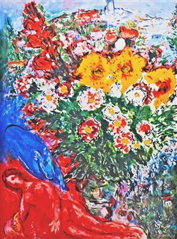 Sale 8592A - Lot 5084 - Marc Chagall (1887 - 1985) - Bouquet 68 x 49.5cm