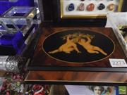 Sale 8422 - Lot 45 - Cherub Form Musical Jewellery Box