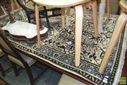 Sale 8431 - Lot 1091 - Cream Field Carpet with Black Border (124 x 194cm)