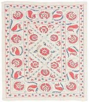 Sale 8725C - Lot 41 - An Uzbekistani Suzani Tapestry Carpet, Hand-knotted Wool, 105x123cm, RRP $1,500