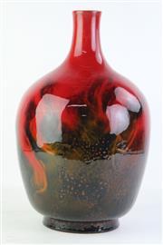 Sale 8810 - Lot 42 - Royal Doulton Flambe Veined Vase