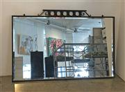 Sale 8825A - Lot 3 - Cast iron bevelled edge mirror, 85 x 140cm