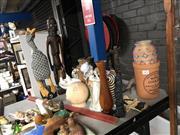 Sale 8819 - Lot 2472 - Sundries incl. Ceramic, Wooden & Other Figures, Basket, Wine Cooler etc