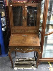 Sale 8822 - Lot 1827 - Bureau Bookcase with Inlaid Front & Ormalu Mounts - 260