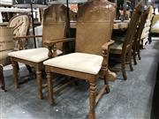 Sale 8851 - Lot 1069 - Set of 6 Oak Dining Chairs inc 2 Carvers