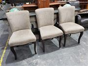 Sale 8988 - Lot 1096 - Set of 8 Custom Made Upholstered Dining Chairs