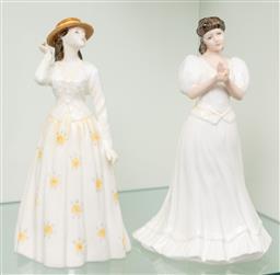 Sale 9256H - Lot 84 - Two Royal Doulton figures including Susannah (HN4221), H21cm, and Maria (HN3381).