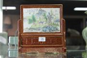 Sale 8285 - Lot 26 - Unusual Republic Brown Glazed Ceramic Table Top Screen