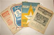 Sale 8418S - Lot 3 - RUGBY LEAGUE NEWS 1955 Vol 36 Nos. 4, 6 (Newcastle v Souths), 7 (Country v City), 8, 10, 12 (France v Sydney), 13, 17, 19, 20, 26, 2...