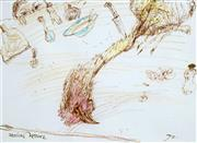 Sale 8484 - Lot 549 - John Olsen (1928 - ) - Italian Kitchen, 1999 19 x 26cm