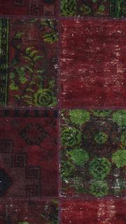 Sale 8626A - Lot 215 - A Cadrys Turkish Vintage Patchwork Handspun Wool Carpet, Size; 321x213cm, RRP; $5150