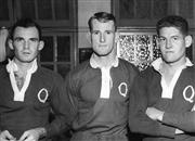 Sale 8754A - Lot 79 - Queensland Rugby Union Players, 1953 - Tom Sweeny, Garth Jones, Ashley Girle 16 x 21cm