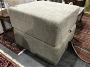 Sale 8822 - Lot 1832 - Pair of Fabric Ottomans