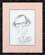 Sale 8855H - Lot 309 - Five framed Italian charicature artworks, to include John Lennon, Sofia Loren, John Wayne, Dustin Hoffman and Woody Allen