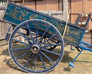 Sale 8871H - Lot 1 - Penfolds the Stationers 19th Century Horse Drawn 2 Wheel Delivery Cart.
