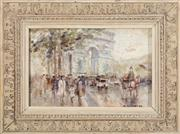 Sale 8902H - Lot 30 - Possibly French Impressionist School - Arc de Triomphe, Paris signed lower right