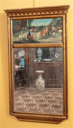 Sale 9120H - Lot 8 - A Trumeau mirror with gilt frame, 86cm x 50cm