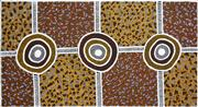Sale 8288A - Lot 32 - Nina Puruntatameri (1971 - ) - Tiwi Kuloma Ceremony, passed onto Tiwi Children, 2005 80 x 149cm