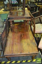 Sale 8337 - Lot 1022 - Timber Coffee Table and Another