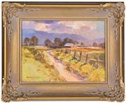 Sale 8339A - Lot 575 - Rubery Bennett (1893 - 1987) - Little Farm, Kurrajong 14 x 19cm