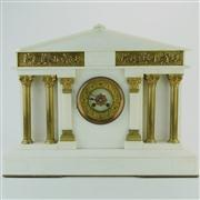 Sale 8379 - Lot 55 - White Marble Mantle Clock