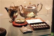 Sale 8365 - Lot 62 - Silver Plate Tea Wares Incl. Teapot Together With Sheffield Flask