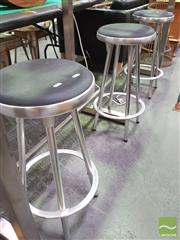Sale 8424 - Lot 1053 - Set of 3 Metal Stools