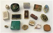 Sale 8436A - Lot 50 - A small quantity of miniature boxes and compacts in various materials including malachite.