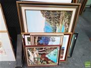 Sale 8449 - Lot 2023 - Collection of (7) original paintings by an Unknown Artist: Scenes of Australia, framed and various sizes, each signed Williams lower.