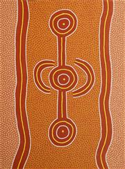 Sale 8714A - Lot 5032 - Long Jack Phillipus Tjakamarra (1932 - 1993) - Water Dreaming 120 x 90cm (stretched and ready to hang)