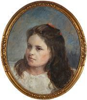 Sale 8867 - Lot 541 - Tom Roberts (1856-1931) - Portrait of Annie Clark, 1929 47.5 x 38.5 cm