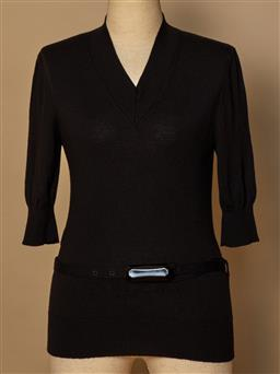 Sale 9093F - Lot 101 - A Fendi black knit jumper with belt, size 42