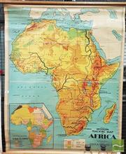 Sale 8383 - Lot 1063 - Vintage School Map Of Africa
