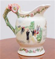 Sale 8430 - Lot 104 - A Crown Devon musical jug 'Daisy Bell'. Height 20cm.