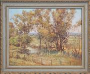Sale 8420 - Lot 580 - John Allcot (1888 - 1973) - Untitled (Landscape) 60 x 75cm