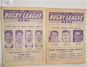 Sale 8418S - Lot 5 - RUGBY LEAGUE NEWS 1957 Vol 38 Nos. 25 and 27