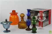 Sale 8505 - Lot 25 - Boda Design Wine Glasses And Aida Examples Together With Coloured And Carnival Glass