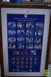 Sale 8530 - Lot 2090 - Framed 2000 Australian Olympic Gold Medallist Commemorative Poster