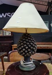 Sale 8562 - Lot 1020 - Pair of Pine Cone Style Base Table Lamps